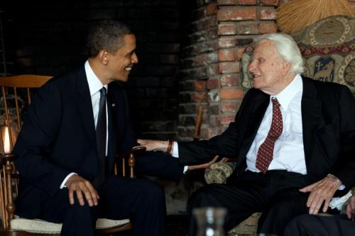 Barack Obama and Billy Graham